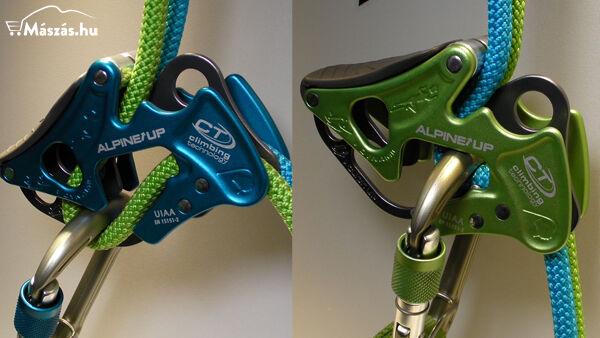 Climbing Technology AlpineUp félautomata lapka zöld és kék színben