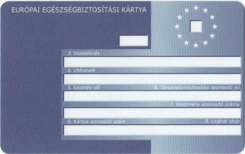 Az Európai Egészségbiztosítási Kártya