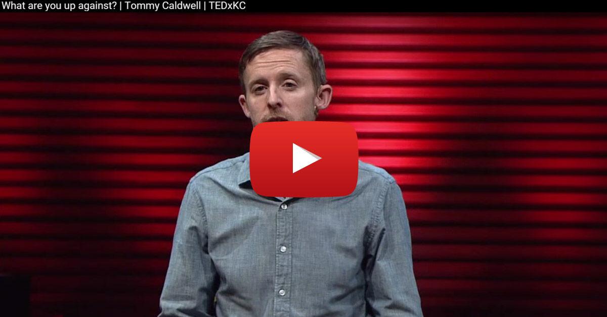 Tommy Caldwell TEDx előadásáról szóló videó mászásról, túszul ejtésről, ujjamputcióról »