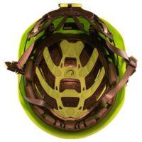 Az Edelrid Zodiac mászósisak belső fejtetőnél és a homloknál lévő szivacsozása. Mindkettő cserélhető | Mászás.hu