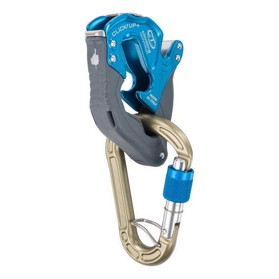 CT Click Up Plus félautomata biztosítóeszköz kék + AJÁNDÉK karabiner