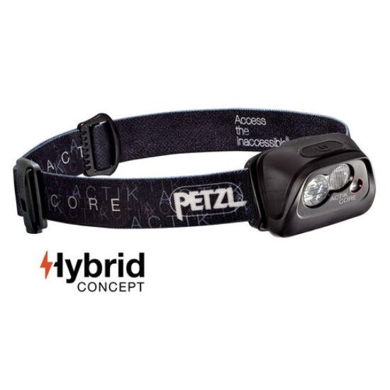 Petzl Actik Core fejlámpa fekete színben (ledes)