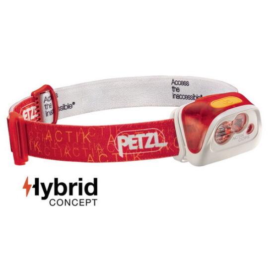Petzl Actik Core fejlámpa piros színben (ledes)