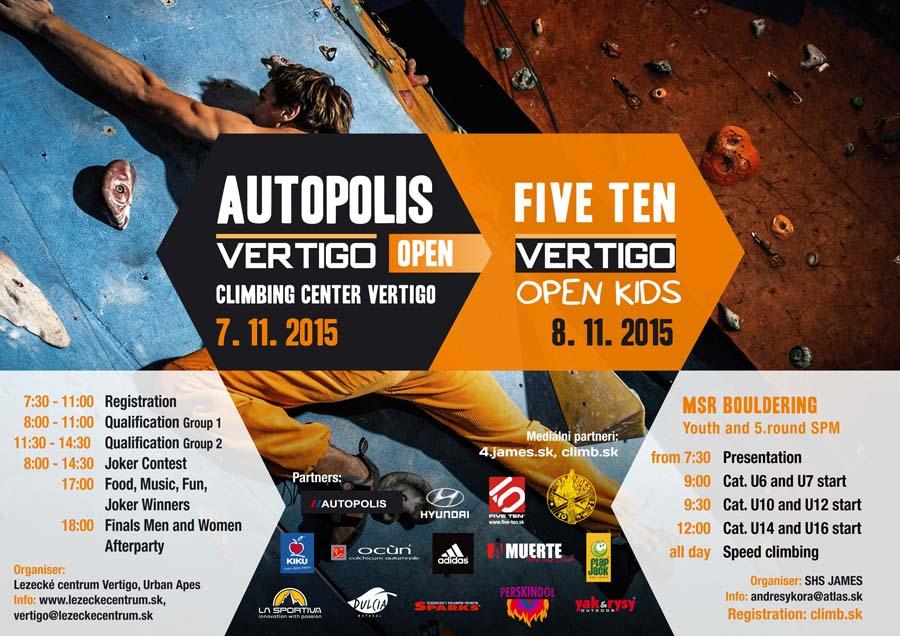 A 2015-ös Vertigo Open Boulder Verseny hivatalos plakátja