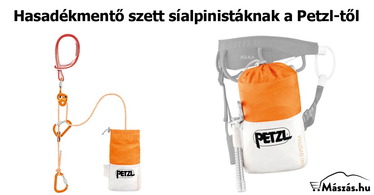 Új glecserhasadék-mentő szett - Petzl Rad System