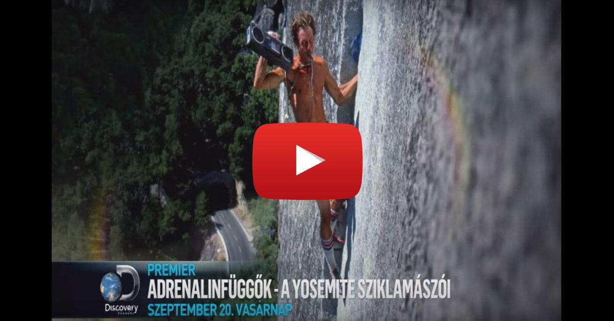 Yosemites mászó film vasárnap este a Discovery Channelen. Nézd meg az előzetest »