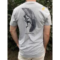 Gerecse tagsági férfi póló szürke színben és S-es méretben (tagoknak 2500 Ft!)