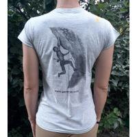 Gerecse tagsági női póló szürke színben és l-es méretben (tagoknak 2500 Ft!)