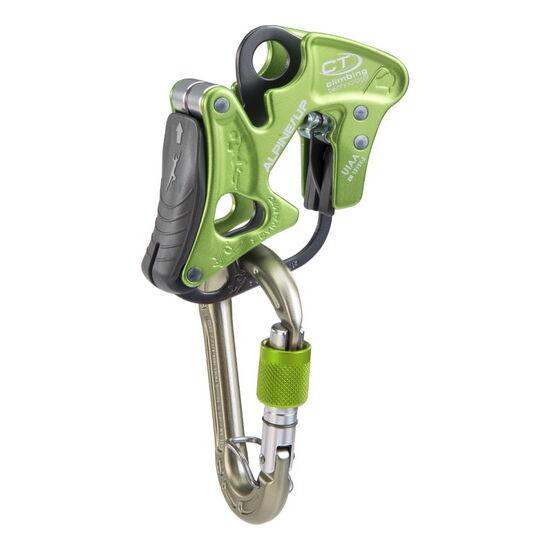 CT Alpine Up fékezés asszisztációs biztosító eszköz zöld színben + AJÁNDÉK karabiner