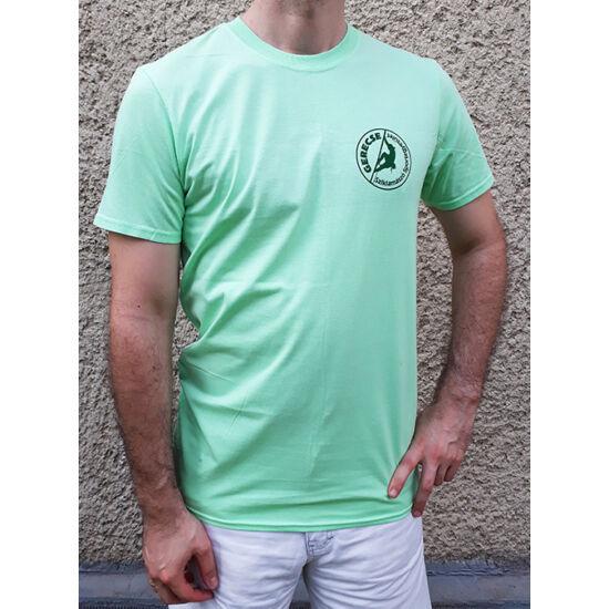 Gerecse tagsági férfi póló zöld színben a Mászás.hu-tól