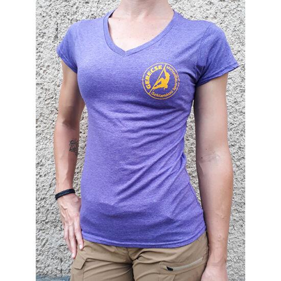 Gerecse tagsági női póló lila színben a Mászás.hu-tól