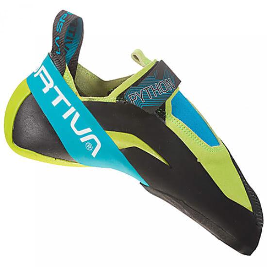 La Sportiva Python mászócipő zöld-kék színben a Mászás.hu-tól